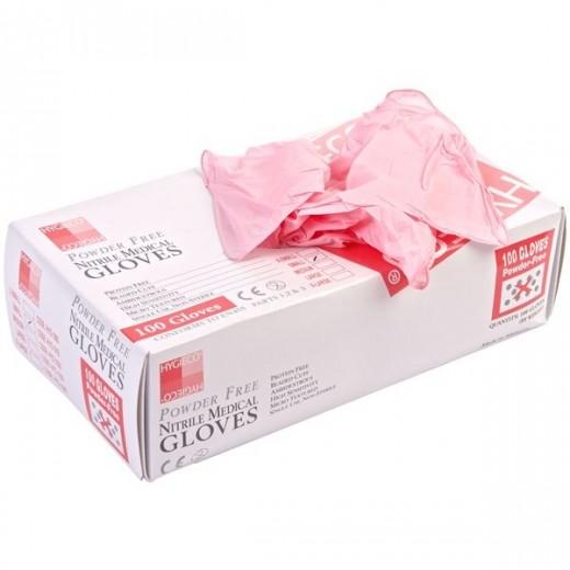 Handsker i pink nitril M 100 stk.-04