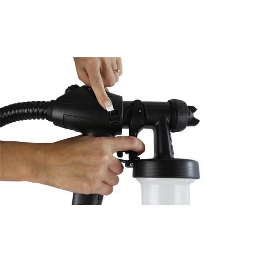 Tænd og sluk knap direkte på spray gun