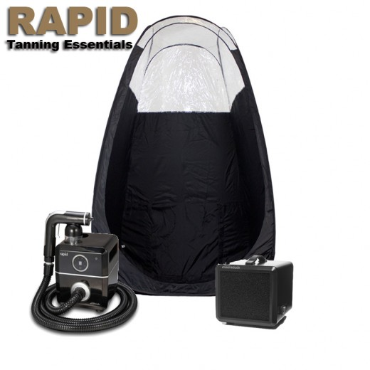 Tanning Essentials RAPID i SORT, inkl. telt and udsugning-33