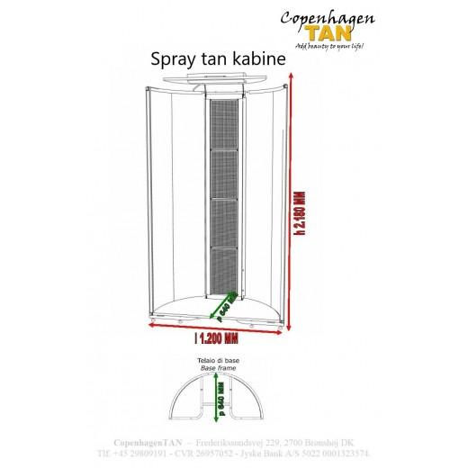 Dimensioner på spray tan kabine