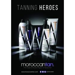 Salgsdisplay fra MoroccanTan - Tanning Heroes