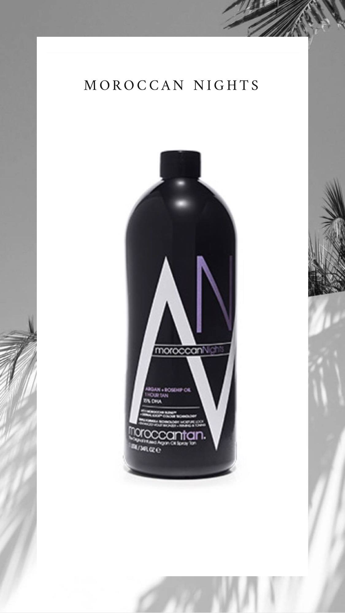 Exotics spray tan væsker fra MoroccanTan